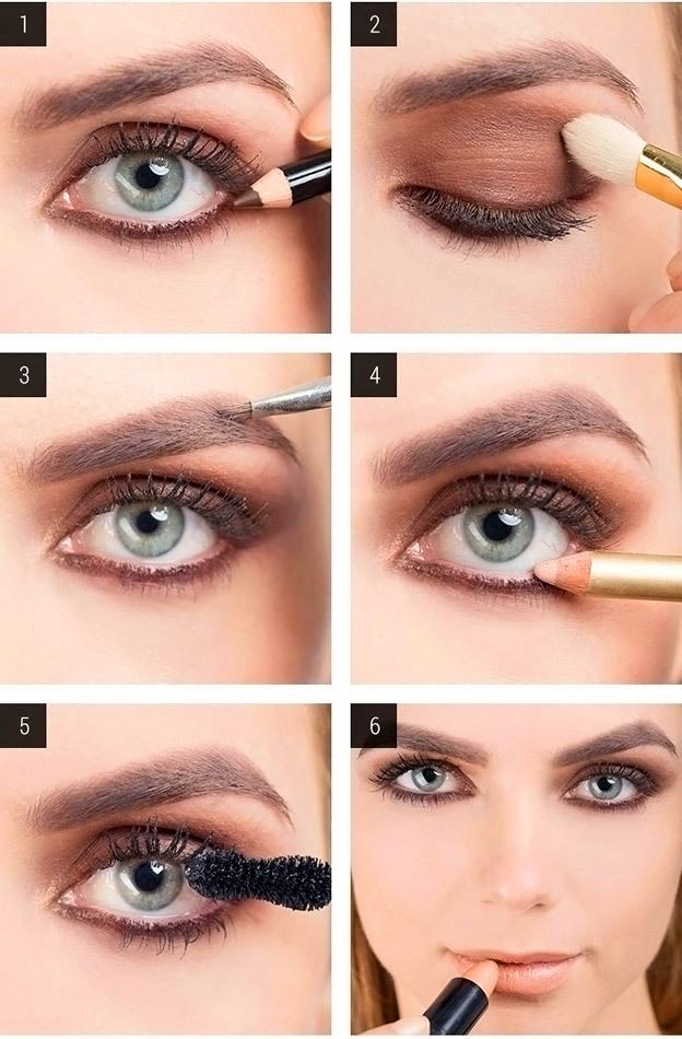 Пошаговая инструкция для голубых глаз